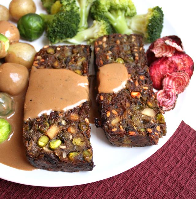 Veganmisjonens feststek med sopp og grønne erter